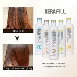 Kerafill own brands organic brazilian keratin treatment dry hair straightening kit