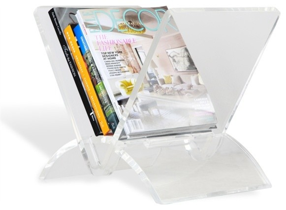 Hoge clear acryl boek holder display, acryl houder