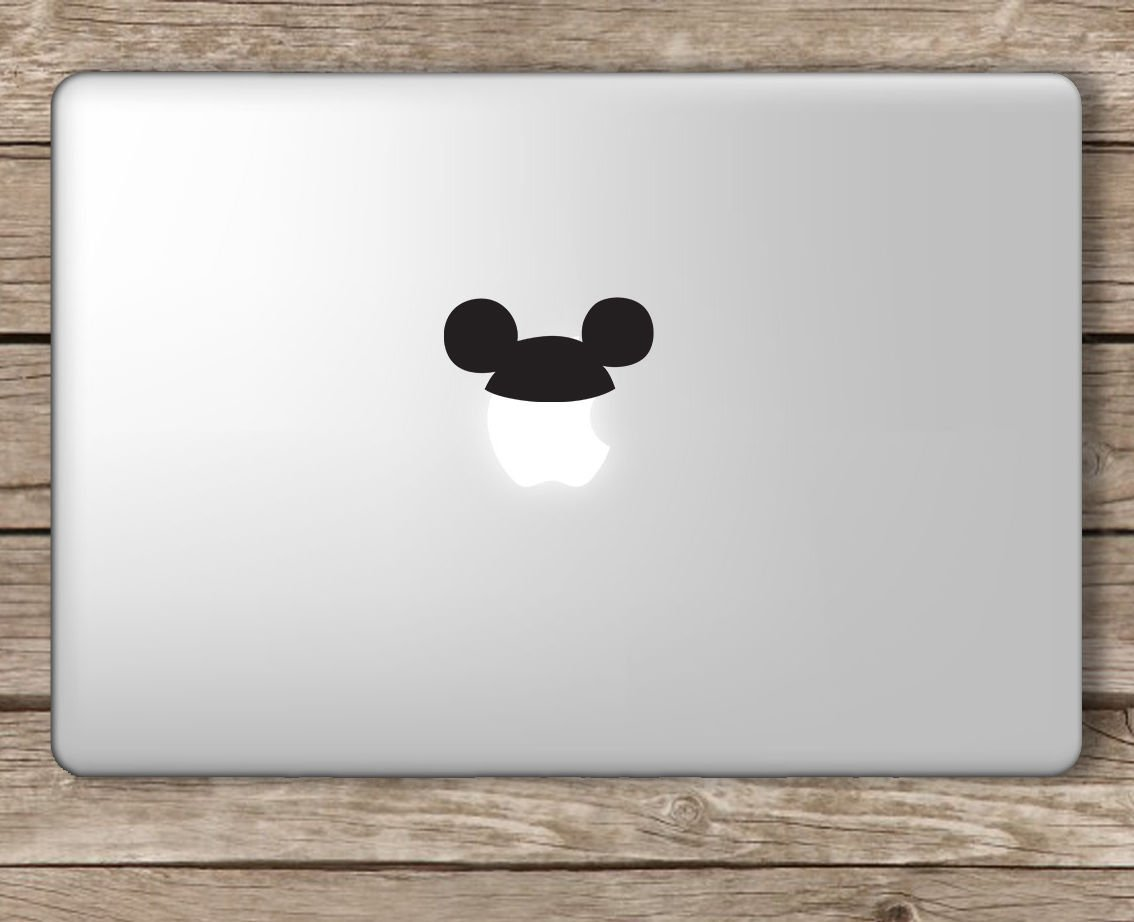 Mickey hat disney apple macbook laptop vinyl sticker decal die cut vinyl decal for