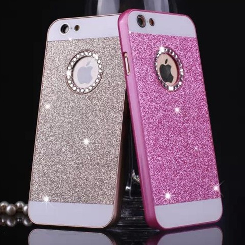 1f808b5d1 luxury case for apple iphone 5 5s acrylic pink pc cover for iphone5 s  mobile phone