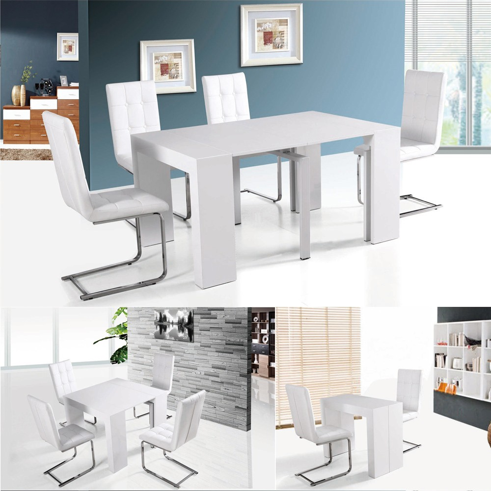 Home Goods White Heavy Duty Small Mdf Wooden Dining Room