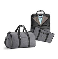 Travel garment bag 2 in 1 mens foldable garment duffle bag