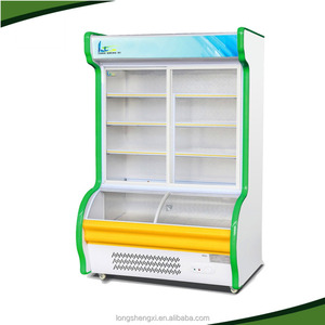supermarket vegetable and fruit display refrigerator/vegetable freezer/vegetable counter