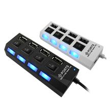 4 port usb hub USB2.0 strip usb hub usb hub splitter with separate switch