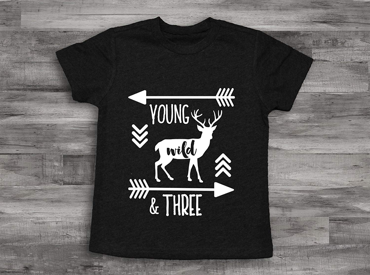 Get Quotations Deer Young Wild And Three Birthday Boy Shirt 3rd Bday