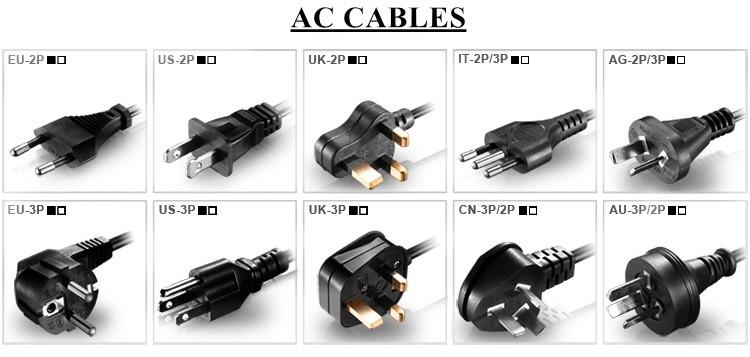 100 v à 240 v adaptateur 18 v ac-dc alimentation 18 volts 5 ampères 90 watts avec UL1310 Classe 2