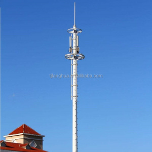 China Manufacturer Galvanized Cell Phone Communication Poles Monopole Tower