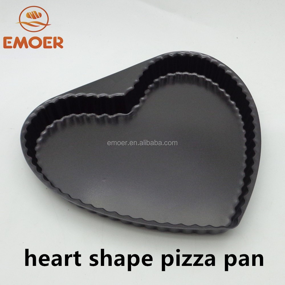 Jantung Bentuk Oval Pizza Pan