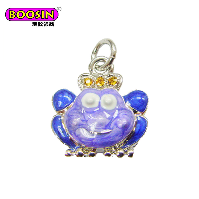 Fashion jewelry Popular Prince frog animal pendant cartoon charm