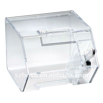 Acrylic Candy Box with a Hinged Lid
