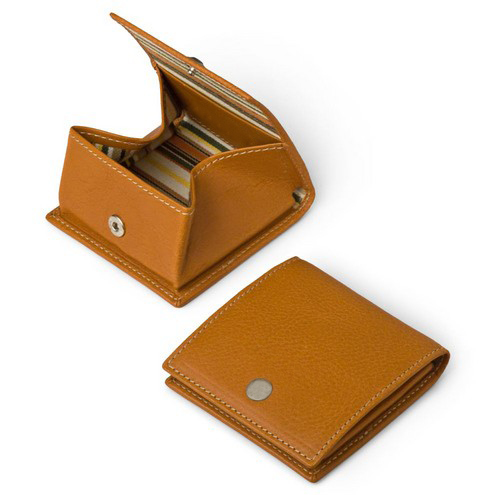 Wholesale Custom Square Genuine Leather Coin Purse
