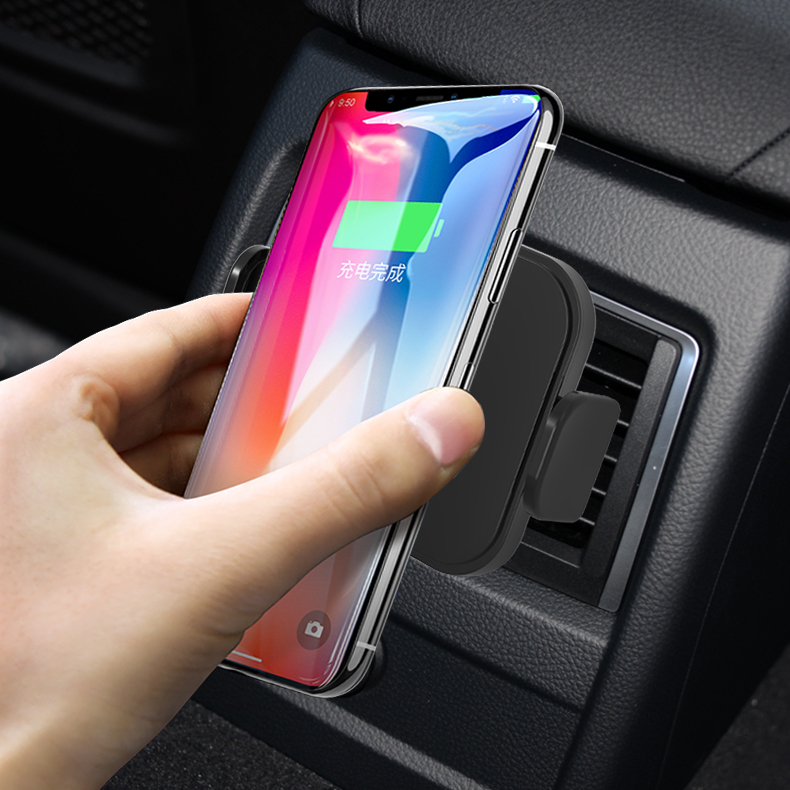 10W fast air vent wireless charging mount holder Qi wireless car charger for iphone samsung фото