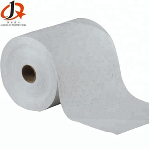 white 100% polypropylene oil absorbent roll