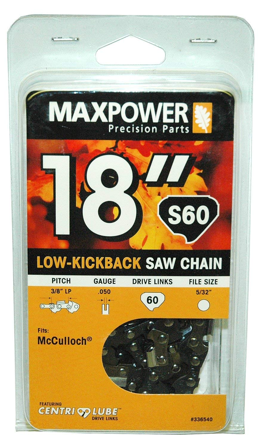 Get Quotations · MaxPower 336540N 18 Inch Chainsaw Chain Fits McCulloch and  Many Other Brands