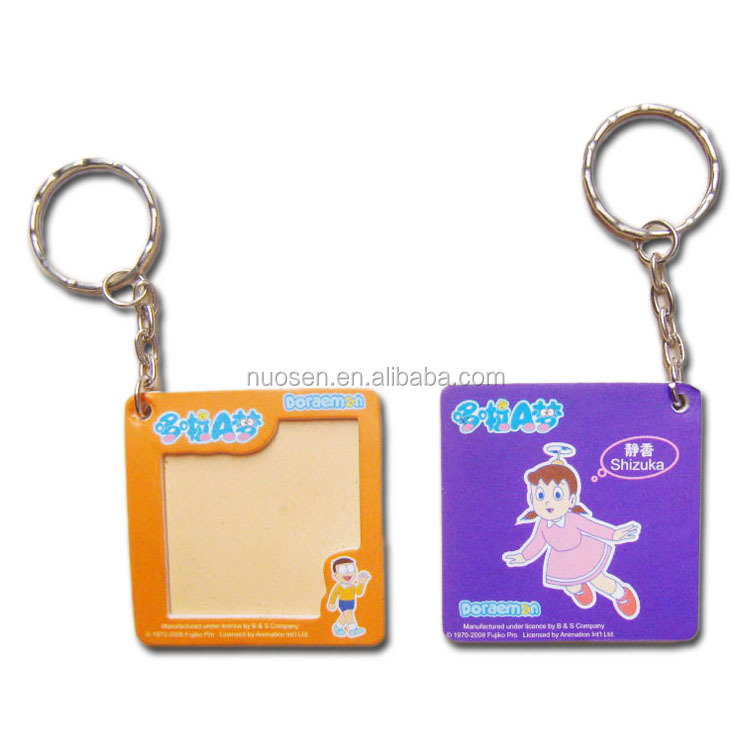 Promotional Personalized Cardboard Paper Photo Picture Frame Key Chain Key Ring