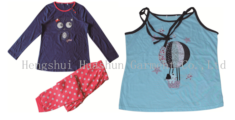 Women short sleeve cartoon Animals sleepwear nightdress