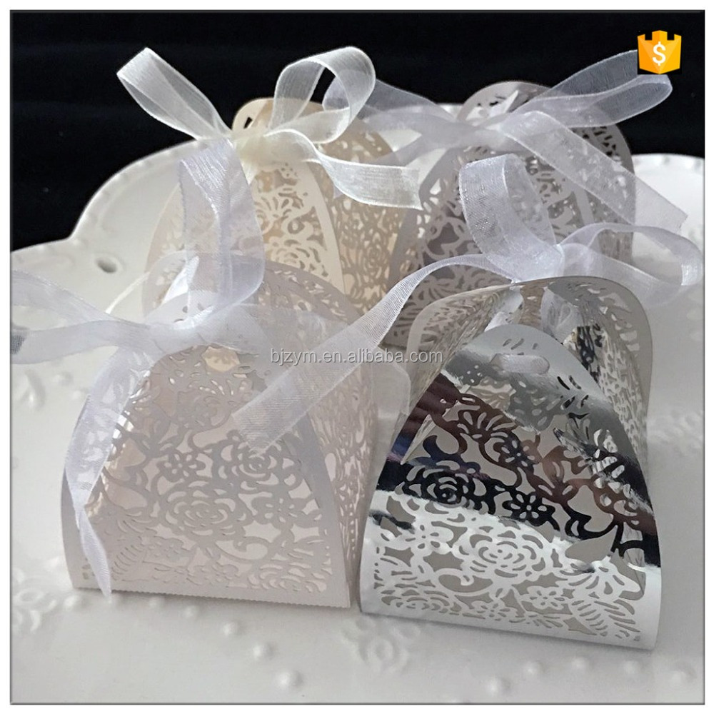 Luxurious high quality 6*6 CM chocolate box Candy boxes for wedding table decoration