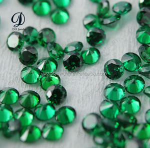 HPHT dark green synthetic spinel gemstones for jewelry