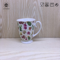 Quality Guaranteed UK Royal Luxury New Bone China Succulent Designed Tall Footed mug