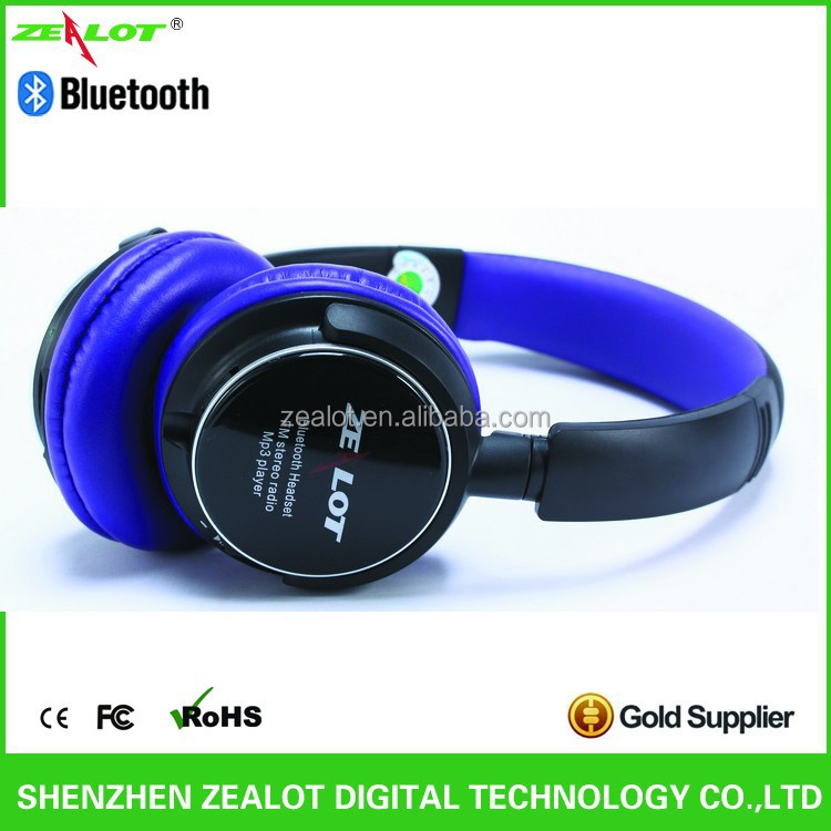 Factory Hot Hand free LED Screen Leather Headband Bluetooth Headphone BT V3.0+EDR+Class2 High Stereo Sound Quality