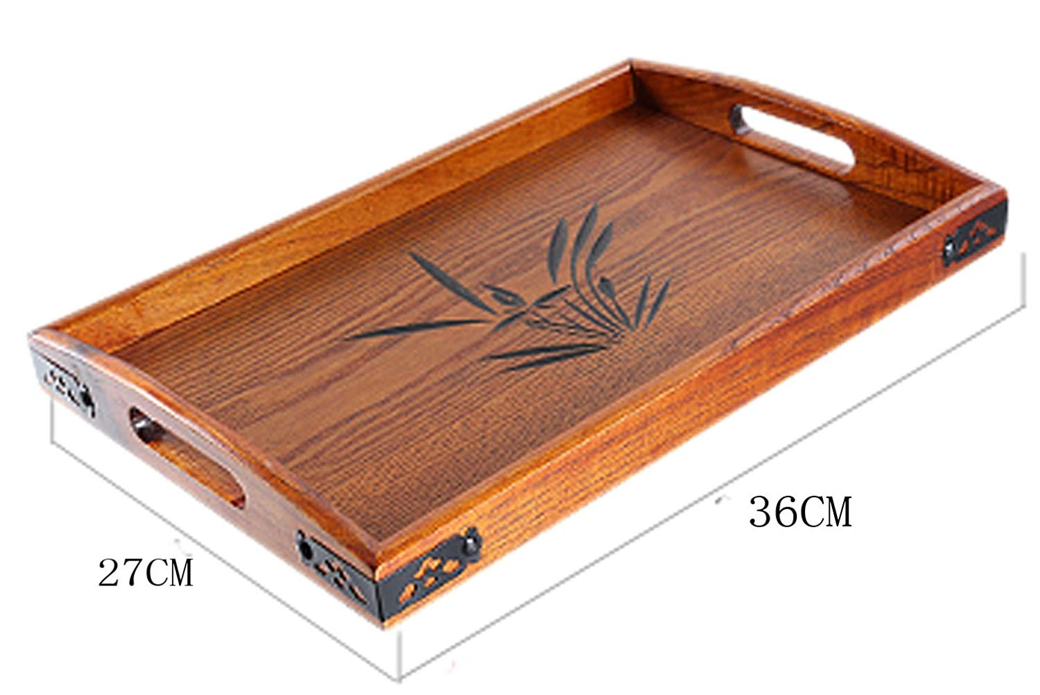 Buy Bandtie Solid Wood Serving Tray Wooden Tray For Tea Coffee Wine Food Used As Rectangular Wooden Platter Decorative Tray Breakfast Tray Party Platter Nesting Kitchen And Dining With Handles Small Size In Cheap Price On Alibaba Com