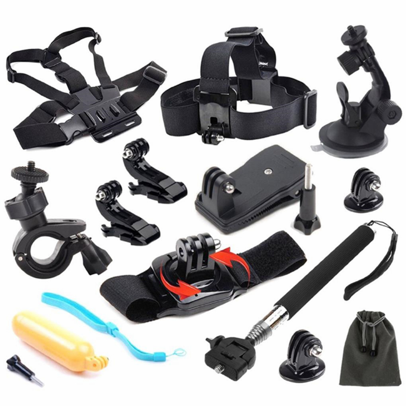 14-in-1 Essential Accessories Set Kit For GoPro HERO 4 3 3+ 2 1 Xiaomi Yi