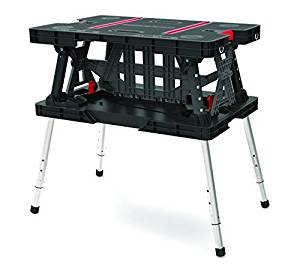 Keter 17199331 Folding Work Table with Adjustable Legs by Keter