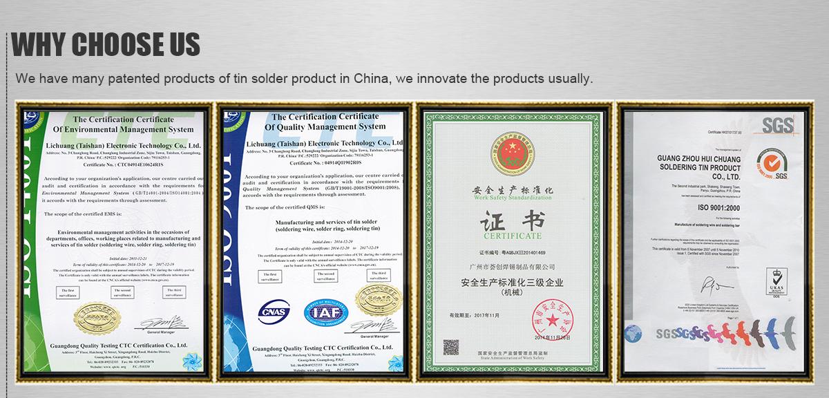 Guangzhou Huichuang Tin Solder Manufacture Co Ltd Solder Wire