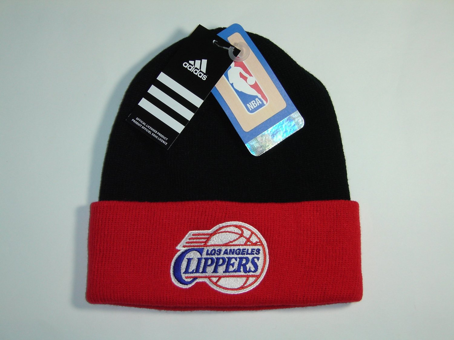 b3e3bc8b7c8 Get Quotations · NBA Los Angeles Clippers Black 2 Tone Classic Cuffed Knit  Winter Beanie Hat
