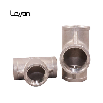 SS 304 three ways connector stainless steel socket elbow reducing tee ss316 threaded tee fitting stainless steel reducing tees