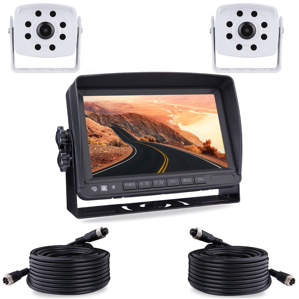 Bus rear view sistema di bus/camion 2 channel car monitor lcd di visualizzazione vista posteriore 7 pollice