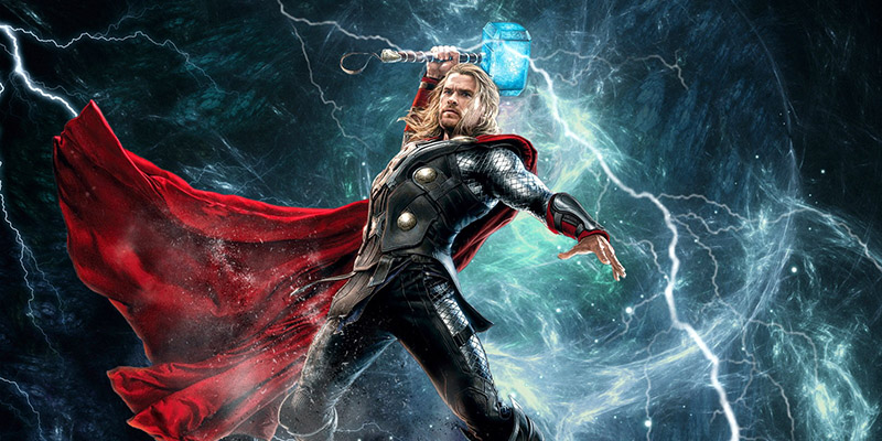 thor with hammer picture