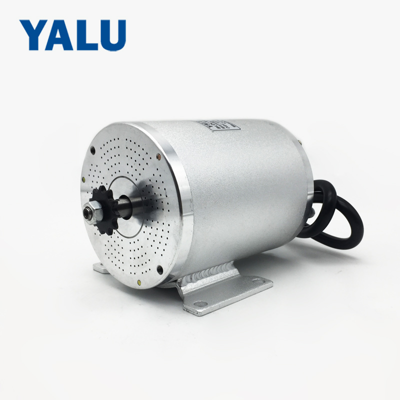 YALU BM1109 1500W 48V Brushless Electric Battery powered wheels car Driver Engine BLDC Motor For Ebike Bicycle Scooter Kit Motor