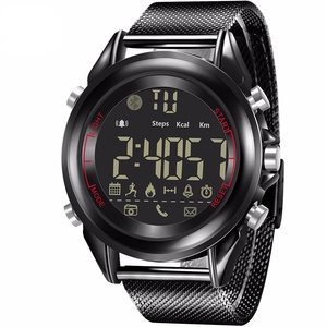 Ultra-thin new smart men's watch steel mesh with Bluetooth sports step counter phone alarm clock reminder can be customized