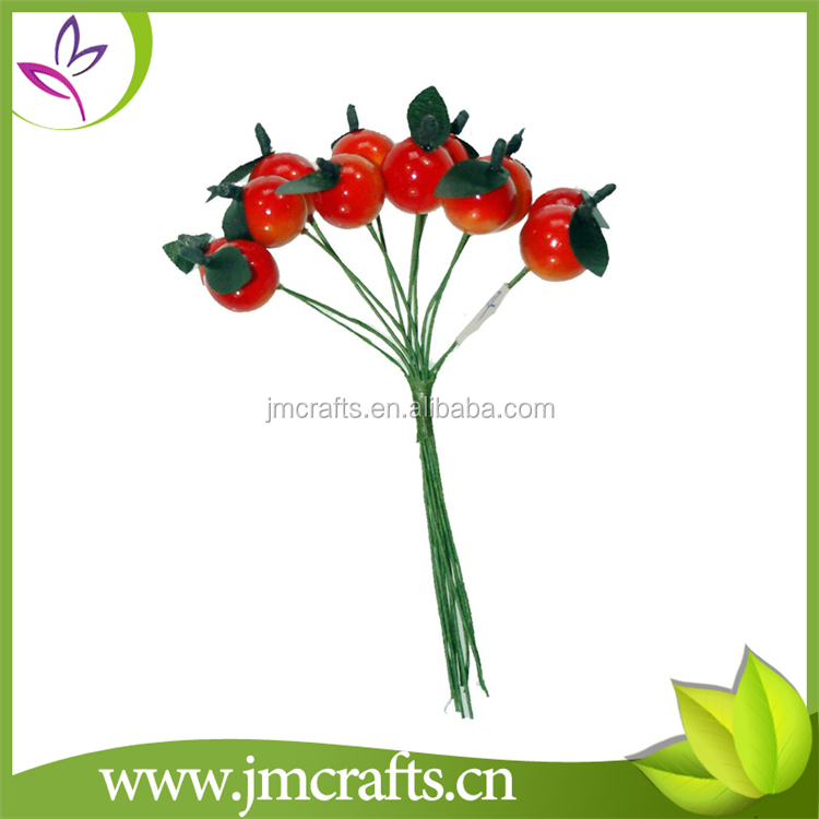 12 heads decorative artificial fruit berry pick