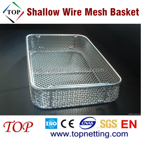 Stainless Steel Shallow Wire Mesh Basket - Buy Shallow Wire Mesh ...