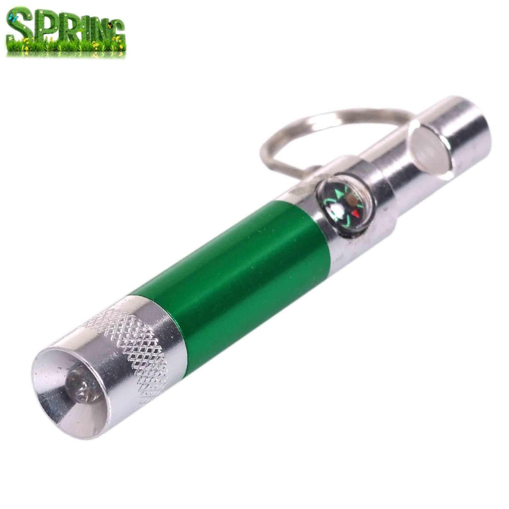 promotion outdoor compass whistle / camping sport whistle /Survival led whistle with keychain