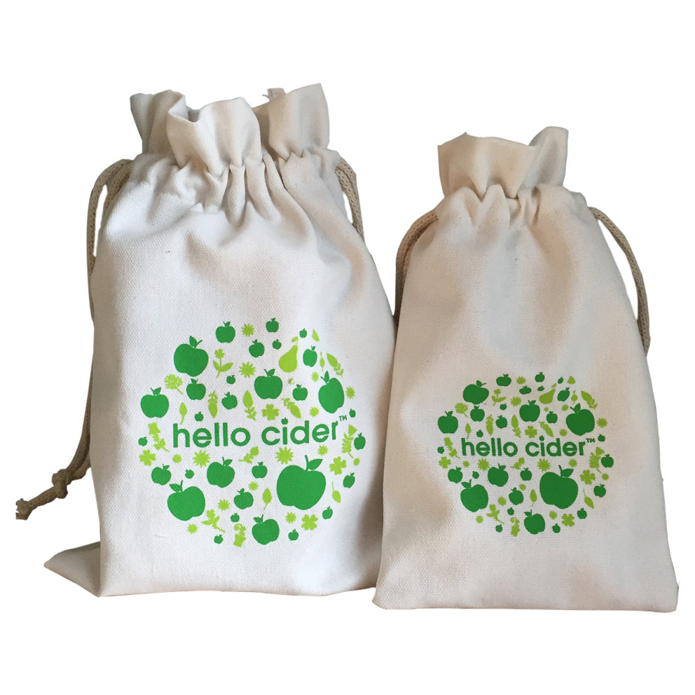 Reusable Eco-friendly Cheap Promotion Custom Printed Gift Bag Small Drawstring Cotton