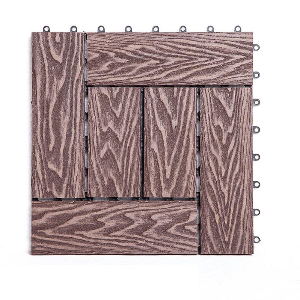 Diy wood flooring/outdoor,balcony,terrace,diy green wood flooring/mosaic parquet-F 30x30cm(12x12inch)
