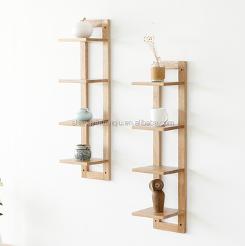 caoxian country customized designed home decoration top quality corner wall shelf with hook