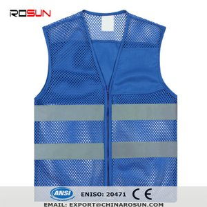 Child safety clothes blue safety vest kids reflective waistcoat mesh vest