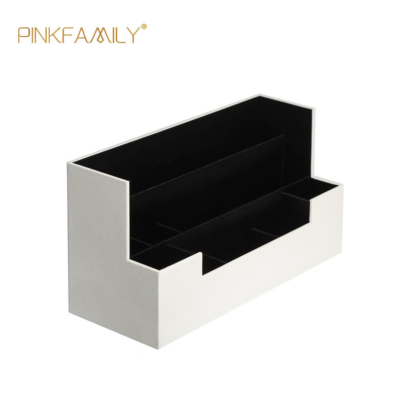 White leather multi-functional vinyl record office storage box