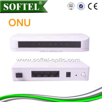 [SOFTEL]4 FE 1 RF CATV GEPON ONU,4 Eth/2 VOIP ONU for CATV,100/1000M GEPON ONU for FTTx