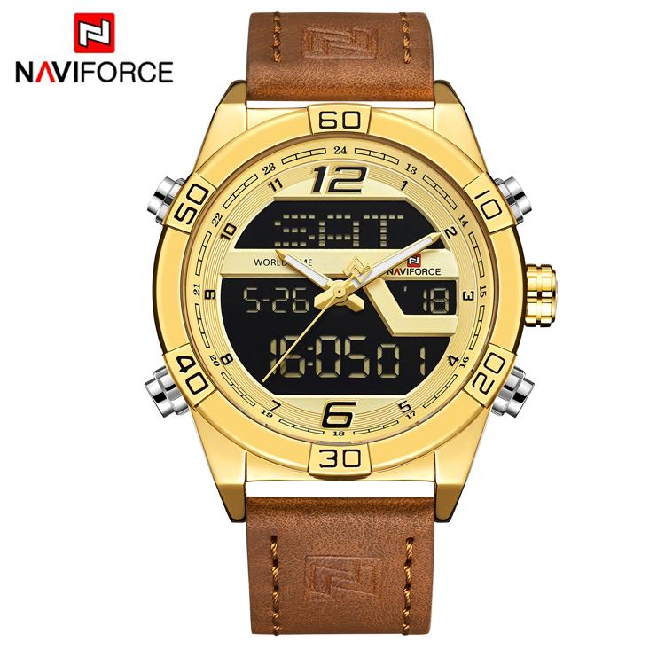 NAVIFORCE 9128 Top Brand Fashion Sport Watch Analog Waterproof Quartz Hour Date Clock Male Wristwatches Relogio Masculino фото