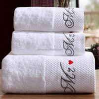 Bath towel 100% cotton hand towel fabric for hotel or home