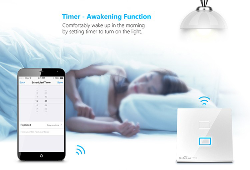 Broadlink TC2 RF Touch Switch Smart Home Touch Light Switch Wireless