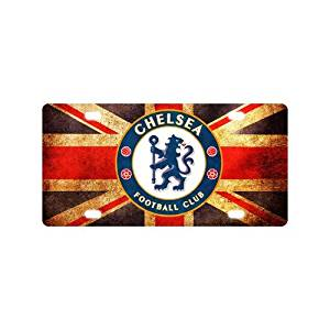 Custom License Plate Chelsea Fc License Plate Cover Metal Car Tag Auto Tag for gift 12x6 inch with 4 Holes