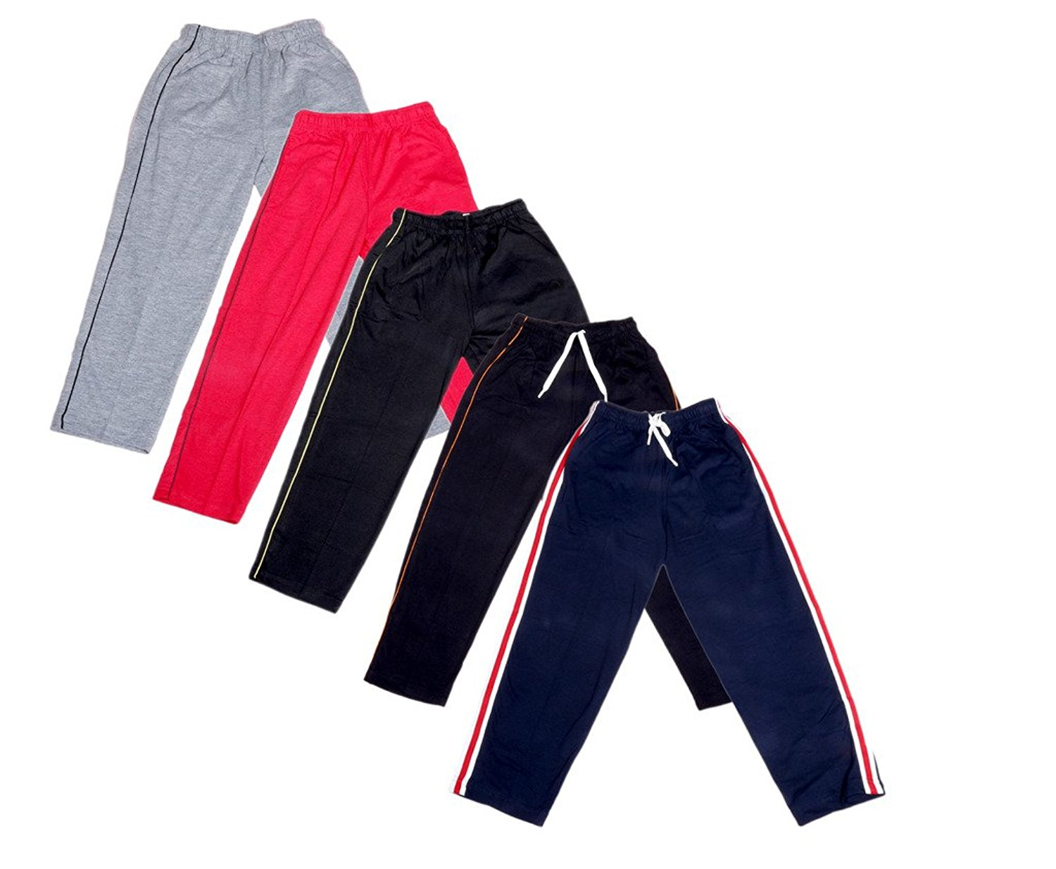 Indistar Boys Premium Cotton Full Length Lower//Track Pants//Pyjamas With 2 Open Pockets Pack Of 3