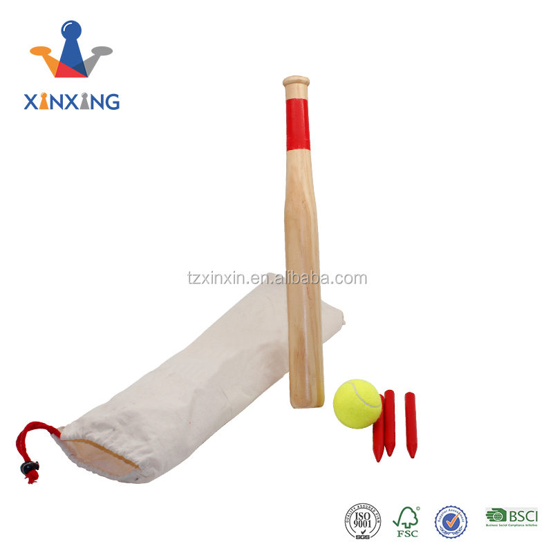 Wooden Finished Baseball Bat With Four Billets And A Ball