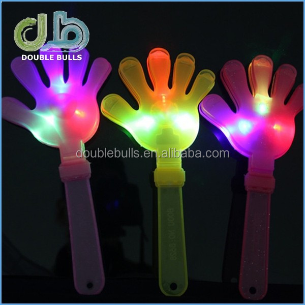 Plastic 24cm LED cheering hand / led cheering stick / party or sports cheering tools for wholesales